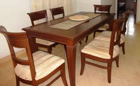 21 lovely used dining table and chairs