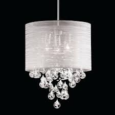 crystal chandelier with black drum shade eimatco intended for amazing property black drum shade chandelier with crystals designs