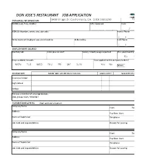Employee Application Form Word Job Application Form Employment Template Free Download