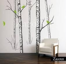 wall stickers birch forest grey on silver birch wall art stickers with wall stickers birch forest grey by zazous notonthehighstreet
