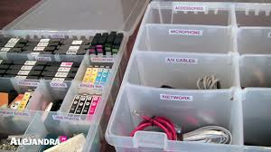Home Office #Organizing Tip: Use Tackle Boxes to Organize Wires & Cords  #AlejandraTV