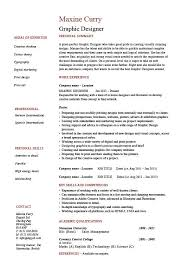 Sample Designer Resume Graphic Design Resume Examples On Example Of