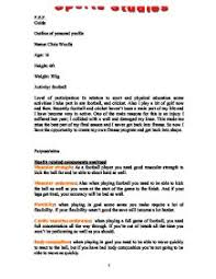 outline of personal profile gcse physical education sport  page 1 zoom in
