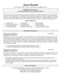 Contractor Resume Template Best Of General Contractors Resume Benialgebraincco