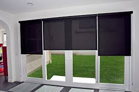 pull down shades for sliding glass doors roller shades on a sliding glass door indoor home