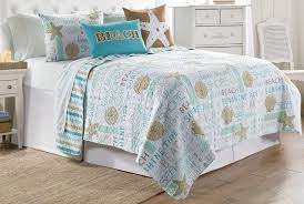 elise james home seahorse typography quilt set king