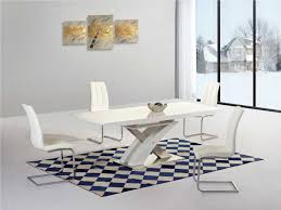 Modern White Gloss Dining Table And Chairs White High Gloss And