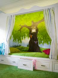 Owl Curtains For Bedroom Interesting Tree With Foxy Owl Cartoon Wallpaper Beside The Bunk