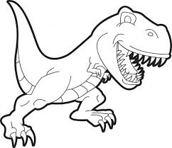 Small Picture Cartoon T Rex Coloring Page For Preschoolers Animal Coloring