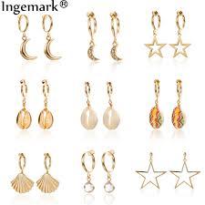Ingemark <b>Korean</b> Natural Shell Drop <b>Earrings Sweet</b> Lvory Color ...