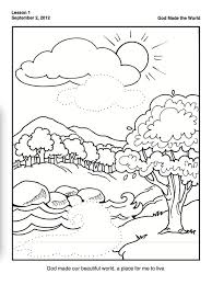 Day 2 Of Creation Coloring Pages At Getdrawingscom Free For