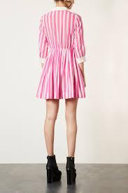 Pink Striped Shirt Dress Topshop Kamos T Shirt