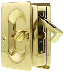 pocket door privacy lock. Premium Quality Mid-Century Pocket Door Privacy Lock Set I