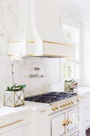 La Cornue Kitchen Designs Simple Alyssa Rosenheck White And Gold French Kitchen Hood With White And