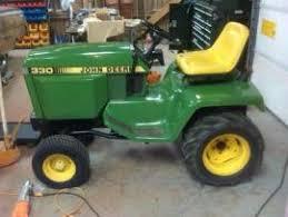 diesel garden tractor. John Deere 330 Diesel Garden Tractor