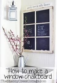 a fancy window chalkboard