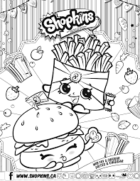 Kids Coloring Pages Shopkins Chelsea Charm Shopkin Page Free