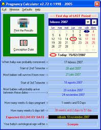 Pregnancy Calculation Calendar Pregnancy Calculator Download
