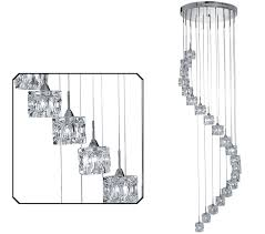 searchlight ice cube led 20 multi light pendant chrome finish with clear glass shades 7820 20 led