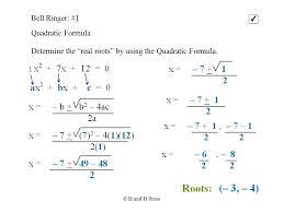 quadratic formula rational roots