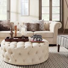 Overstock Living Room Sets Knightsbridge Beige Fabric Button Tufted Chesterfield Sofa And