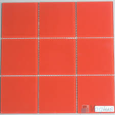 4x4 glass tile red inch mosaic wall clear