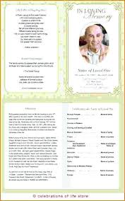 Funeral Template Publisher Funeral Program Template
