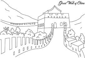 The Great Wall Of China Coloring Page For Kids Asia Pinterest