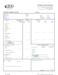 hvac resume help best photos of construction estimate forms template hvac estimate