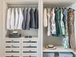 dresses hanging in wardrobe