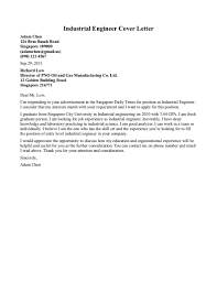 Industrial Engineer Cover Letter Sample Resume Format Electrical