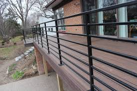 Horizontal Deck Railing In Bloomfield Hills contemporary-deck
