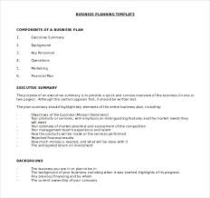 Word Document Business Plan Template Free Business Plan Template