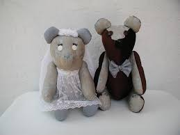 wedding couple bears personalized namesake bride and groom wedding gift bridal shower gift wedding keepsakes original teddy bears