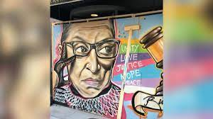 Mural is a digital workspace for visual collaboration. Ruth Bader Ginsburg Mural Two Artists Honor Her Near Black Lives Matter Plaza Cnn