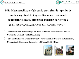 Mean amplitude of glycaemic excursions is superior to time in range in  detecting cardiovascular autonomic neuropathy in newly diagnosed and  drug-naive type 2 diabetic patients - Virtual Meeting