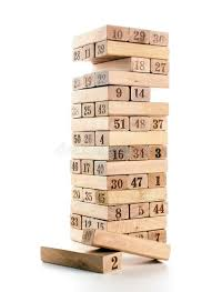 Wooden Brick Game Blocks Of Game Jenga On White Background Vertical Tower Whole And 44