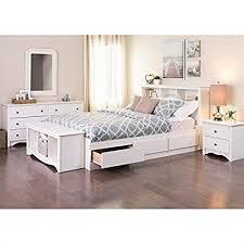 Amazon.com: Prepac Monterey Queen 5 Piece Bedroom Set in White ...