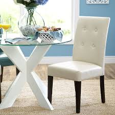 ivory leather dining room chairs best of mason ivory dining chair s