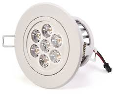 7 watt led recessed light fixture aimable and dimmable contemporary recessed lighting