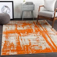 orange area rug. Ferrint Orange Area Rug