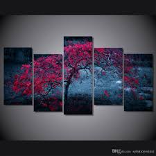 5 panel hd printed tree light purple autumn painting canvas print room decor print poster picture canvas gold color chinese oil paintings gold color chinese  on autumn tree set of 3 framed wall art prints with 5 panel hd printed tree light purple autumn painting canvas print