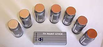 tip of the day apply the tv stick with a wet sponge for a natural look if you need more coverage apply the tv stick foundation with foundation brush