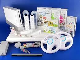 Wii – Nintendo Wii Konsole Komplett Paket Mario Kart Wii Fit Wii Play und  mehr !