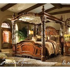 Michael Amini Living Room Set Michael Amini 5pc Villa Valencia King Size Canopy Poster Bedroom