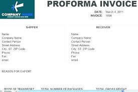 Proforma Invoice Template Word Format For Proforma Invoice What Is A Proforma Invoice Printable