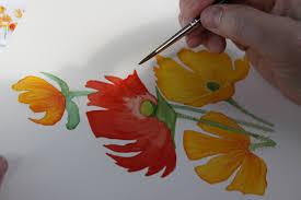 watercolor flower tutorial google search