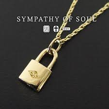sympathizer sea of seoul small key charm k18 yellow gold necklace padlock key man and woman combined use sympathy of soul small key charm k18yellow gold