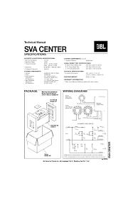 jbl tlx css sp1000 center (center 1000) (serv man2) service manual Simple Wiring Diagrams sva center service manual