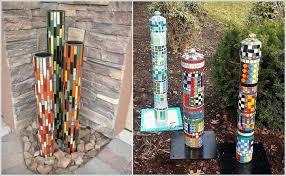 garden pillars. Image Via: Fresh Patio , Mosaics Garden Pillars